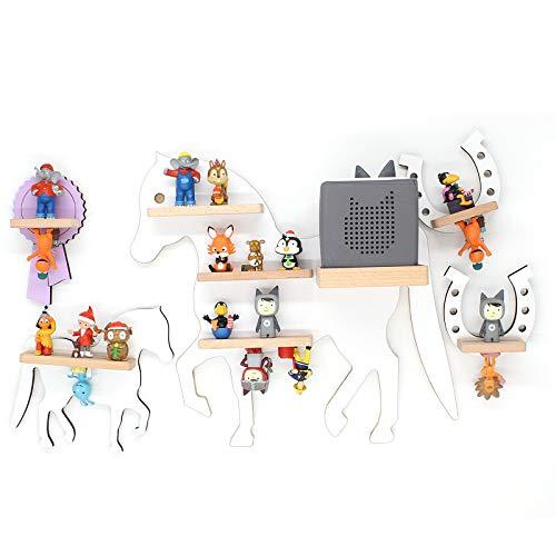 BOARTI das Original Kinder Regal Pferde Kollektion mit Fohlen, Schleife und 2 Hufeisen geeignet für ca. 45 Tonies - zum Spielen und Sammeln