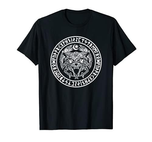 Emblema vichingo Fenrir - Mitologia del lupo norreno Maglietta