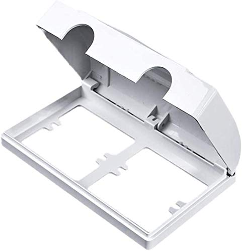 Furuyou Cubierta de Enchufe a Prueba de Agua,Tapa de zócalo de Enchufe,Doble-Tipo 86 Interruptor Protector de Enchufe Cubierta de Enchufe eléctrico