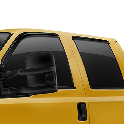 Rugged Ridge 11349.12 Window Visor Kit, Matte Black; 07-18 Jeep Wrangler JK, 4 Door