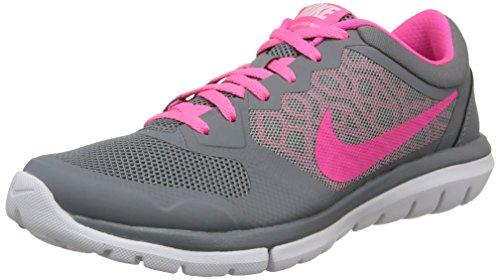 Nike Wmns Flex 2015 Rn - para hombre, Gris / Rosa / Blanco, 36