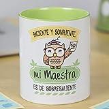 La Mente es Maravillosa - Taza frase y dibujo divertido (Paciente y...