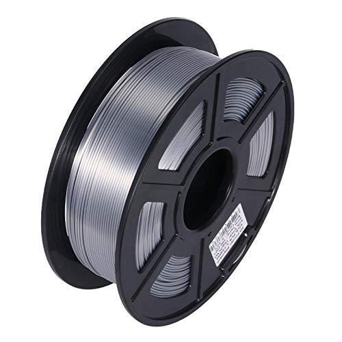 Night K 3D-Drucker Filament PLA, 3D-Druck PLA Filament 1KG Spule für 3D-Drucker und 3D-Stifte, 1,75 mm Genauigkeit +/- 0,02 mm, Seidensilber