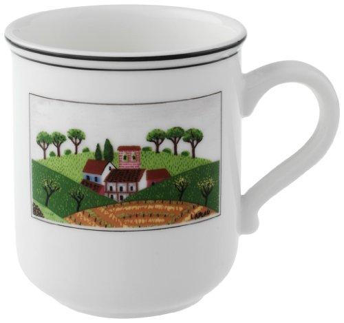 Villeroy & Boch Design Naif Kaffeebecher Dörfchen, Premium Porzellan
