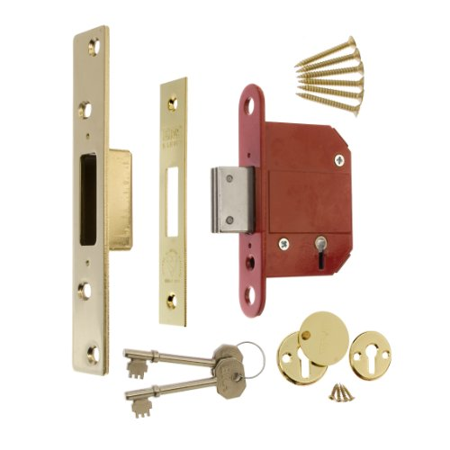 ERA Fortress BS 3621 2.5-inch/ 64mm 5 Lever Maximum Security Mortice Deadlock - Brass Effect