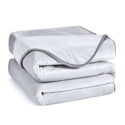 Charm Heart Luxury Fleece Blanket,Winter 350GSM Blanket Super Soft Warm Thick Blanket for Home Bed Blankets King Size, Grey 90×108 in