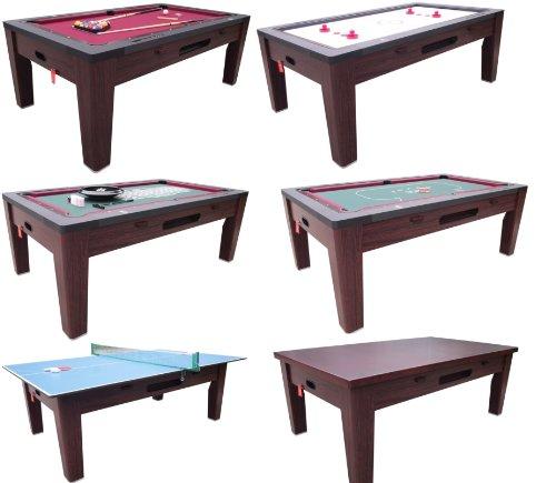 Berner Billiards 6 in 1 Multi Game Table in Walnut