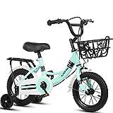 N&I Bike Kids Bike Boys/Girls Bike Kids Bike Boy Girl Scooter Bicycle 2 Wheeled Bikes for 2-11 Years 12' 14' 16' 18' Child Bicycle with Training Wheels Hand Brakes and Basket Pink 4 Inc
