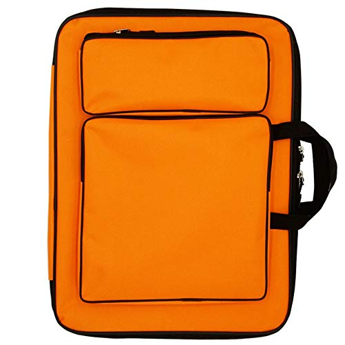 4K Art Portfolio Case Artist Zaino e tote Bag Borsa da disegno impermeabile Sketch Board Bag Art Supply blu
