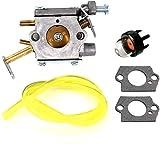 YYCHER Carburador con Junta y Bomba de Imprimación para Homelite UT-10532 UT-10926 Ryobi RY74003D 33cc Motosierra 300981002 Piezas y accesorios