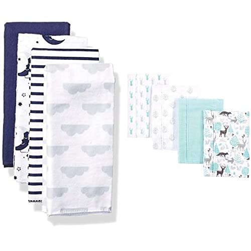 Hudson Baby Girl Cotton Flannel Credence Moon Linocut Burp Cloth Discount is also underway 8-Pack