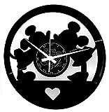 Instant Karma Clocks Wanduhr aus Vinyl Schallplattenuhr mit Mäuse Liebe Freunde Motiv upcycling Design deko Vintage Wand Retro-Uhr Home Dekorationen, Geschenkidee, Handgemacht