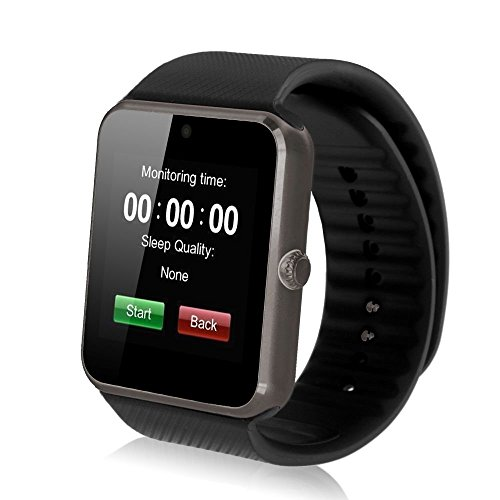 Colofan C08 Men and Women Fashion Bluetooth Smart Watches Can Phone and Camera Sports Watch(Black)
