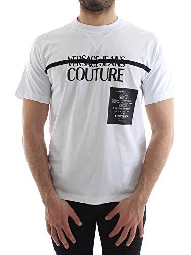 VERSACE JEANS COUTURE camiseta hombre B3GVB7TF 30319 003 VUM601 REG 80L XS Bianco/nero