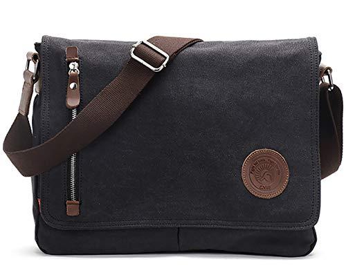Vintage Men's Canvas Messenger Bag Laptop Shoulder Satchel Crossbody Sling Bookbag School Bag...