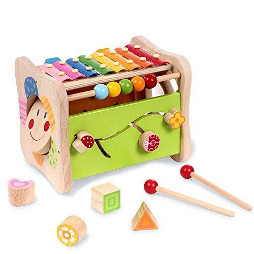 CaoQuanBaiHuoDian Kinder Bausteine  Hölzerne pädagogische Aktivität Spielzeug Holzform Classifier Zählen Babyspielzeug Lernspielzeug Lernspielzeug (Farbe : Multi-Colored, Size : Free Size)
