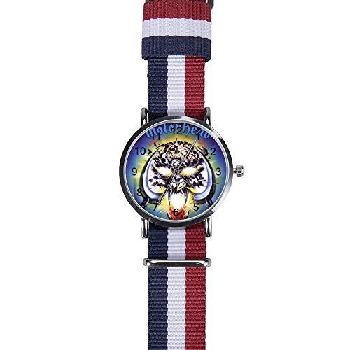 Motorhead_overkill 腕時計 ウォッチ クォーツ時計 スケール付き ージ織りクォ 編組時計 時計バンド 多色 軽量 超薄型 4CM文字盤 男女兼用 人気 シンプル 通勤 欧米 カジュアル ビジネス風 時計