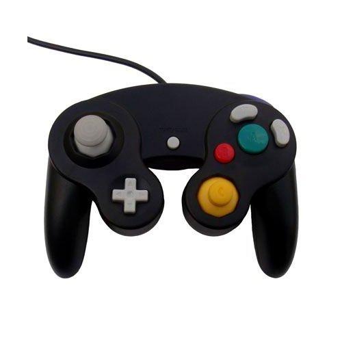 OSTENT Controle de jogo de choque com fio compatível com Nintendo GameCube NGC Video Game cor preta