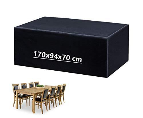Mutsitaz Copertura per Mobili da Giardino, Rettangolare Impermeabile Telo Poliestere per Mobili Esterni Tavolo e Sedie (170 x 94 x70cm)