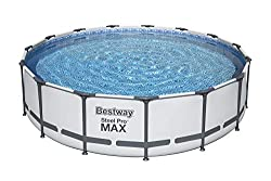 in budget affordable Bestway 56687E Pro MAX 15ft x 42inch above ground   Steel Frame Round Pool Including you …