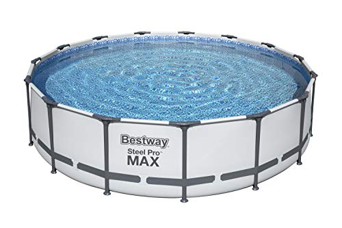 Bestway 56687E Steel Pro MAX Ground Frame Pools, 15-Feet x 42-Inch, Gray