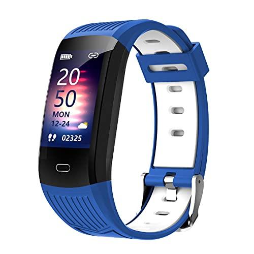 Surgewavelv Fitness Smart Watch Tracker Smart Wristband Monitorización del Ritmo cardíaco IP68 Impermeable Mujeres Hombres Smartwatch para teléfonos iOS