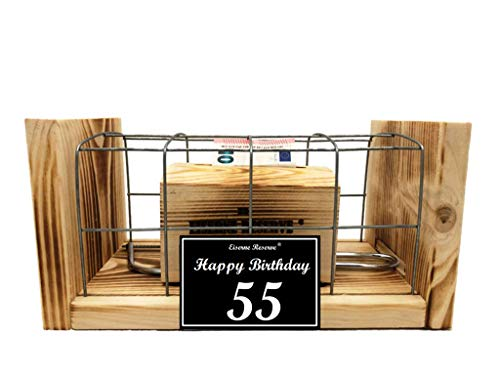 Happy Birthday 55 Geburtstag - Eiserne Reserve - Geldbox hinter Gitter - Geldgeschenk - Geld verschenken - 55 Geburtstag Geschenk Idee für Männer & Frauen Geschenke zum 55 Geburtstag