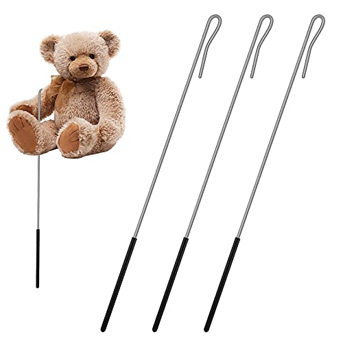 3 Packs Puppets Arm Control Rod Accessory Handles Arm Control Rod Metal Puppet Stick Accessory for Manipulating Puppets Stainless Steel Puppets Accessory Stick with Rubber Protective Sleeve Rod