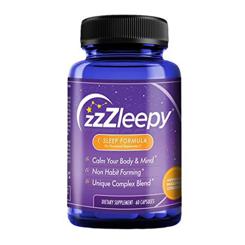 #1 Best Sleep Aid Supplement for Insomnia Relief | Relax & Fall Asleep Fast | 100% All-Natural Sleep Formula | Non-Habit Forming Sleeping Pill for Women & Men