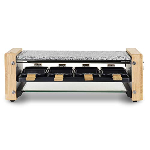HKOENIG Raclette WOD12 H.Koenig für 8 Personen mit Glasplatte, Holz
