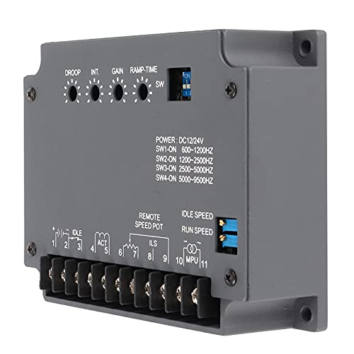 Regulador de velocidad del motor electrónico, 15 amperios de salida máxima, accesorios para grupos electrógenos de motor diésel para motores de gas para diésel
