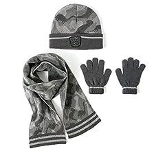Boys Official Winter Cars Fireman Sam Hat Gloves and Scarf Set 3 PCs Set Age 3-7