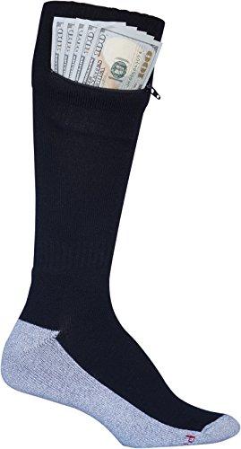 Pocket Socks - Passport Security Travel Socks, Men's, Black