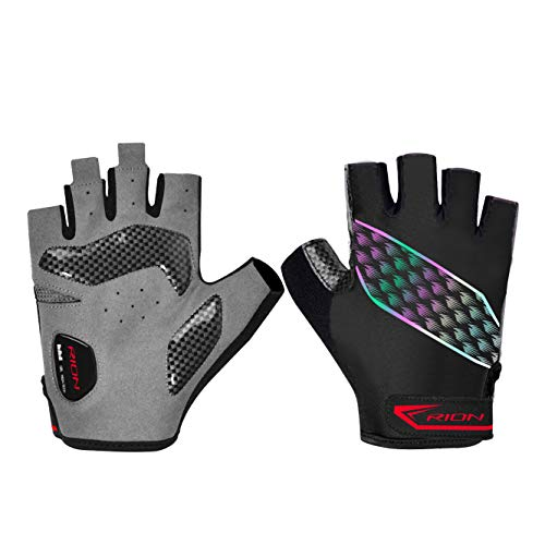 Cycling Bicycle Gloves Padded Half Finger Moutain Bike Gloves Shock-Absorbing Anti-Slip Breathable MTB DH Road Biking Gloves for Men/Women