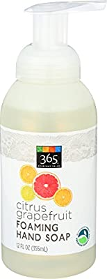 365 Everyday Value, Foaming Hand Soap Citrus Grapefruit Scent, 12 Fl Oz