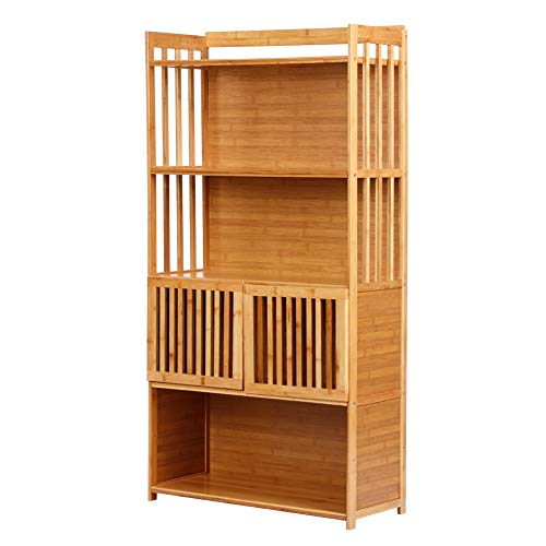 TOPINCN 5-Tier Standing Bookcases Book Storage Rack Shelf Bookcase Organizer Book Cabinet Living Room Home Office Furniture