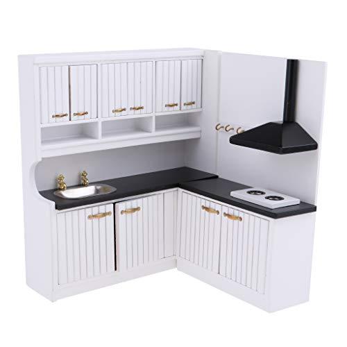 D DOLITY Modelismo Muebles de 2 Pedazos Accesorios Decorativos para Casa de Muñeca Escala 1/12