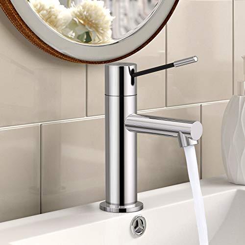 Synlyn Waschtischarmatur Bad Armatur Wasserhahn Chrom Badarmatur Messing Waschbeckenarmatur Aufsatzwaschbecken Mischbatterie Spültischarmatur Hochdruckarmatur für Badezimmer Toilette