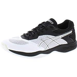 ASICS Women's Netburner Ballistic FF Volleyball Shoes, 8.5, White/Silver