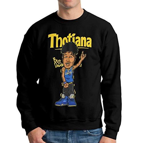MLTseown Homme Sweats à Capuche, Sweat-Shirt à Capuche, Men's Blue-Face Casual Long Sleeve Sweatshirt Crew Neck Hoodie Black
