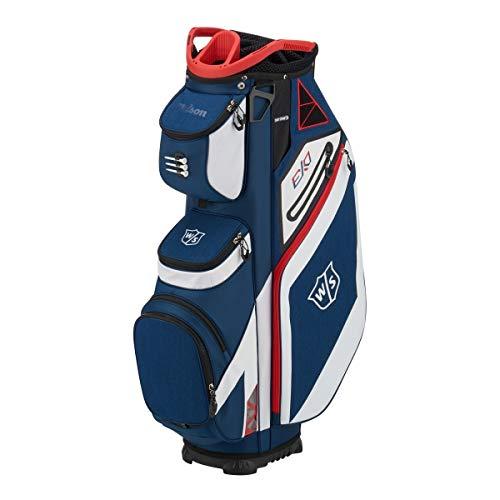 WILSON Herren W/S EXO CART Golftaschen, Blau/Weiß, One Size