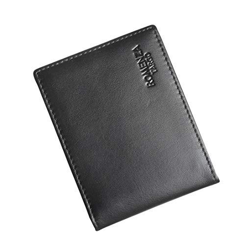 Slim RFID Wallets for Men - Genuine Leather Biffold Minimalist Wallet