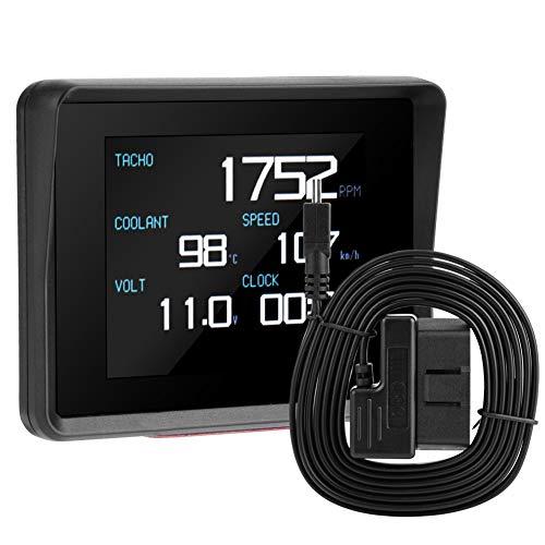 Pantalla de Voltaje de Temperatura Digital para Medidor Multifunción para Coche