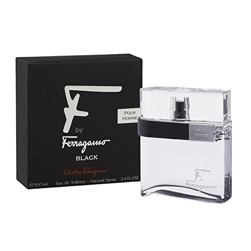 F by Ferragamo Black By Salvatore Ferragamo For Men Eau De Toilette Natural Spray, 3.4 Fl. oz./100 ml
