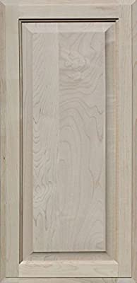 Unfinished Maple Cabinet Doors, Square with Raised Panel by Kendor, All Sizes
