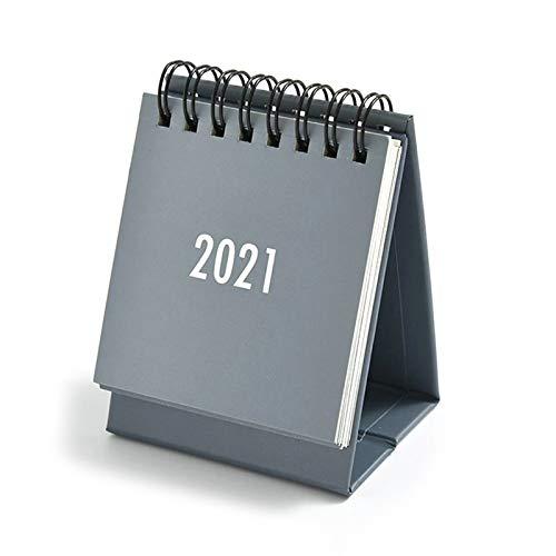Mini calendarios de escritorio 2021, simple calendario práctico diario 2021, suministros para oficina y hogar