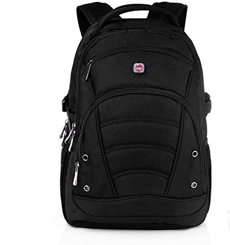 Laptop Backpack 15.6Inch/1680D Black Heavy Duty Backpacks with RFID Blocking Sleeve/Travel Business Cabin Laptop Bags/USB Charging Port Waterproof Raincover College School Rucksack for Men Women