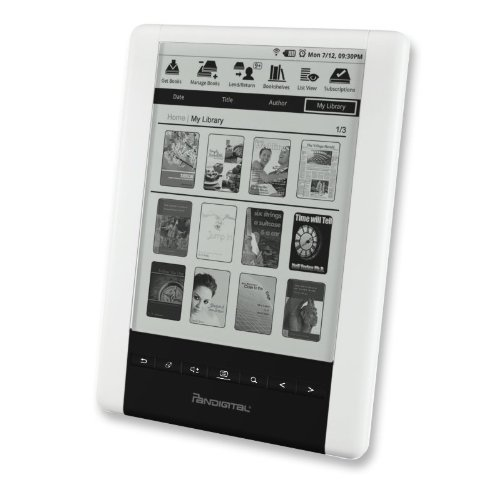 "PanDigital PRD06E20WWH8 Pantalla táctil 2GB WiFi Gris Lector de Libro electrónico - E-Reader (15.2 cm (6""), 600 x 800 Pixeles, ePub,PDF, MP3, BMP,JPG,PNG, 2 GB)"