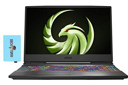 MSI Alpha 15 A4DEK Gaming and Entertainment Laptop (AMD Ryzen 7 4800H 8-Core, 32GB RAM, 1TB PCIe SSD, AMD RX 5600M, 15.6' Full HD (1920x1080), Wifi, Bluetooth, Webcam, 1xUSB 3.2, Win 10 Home) with Hub