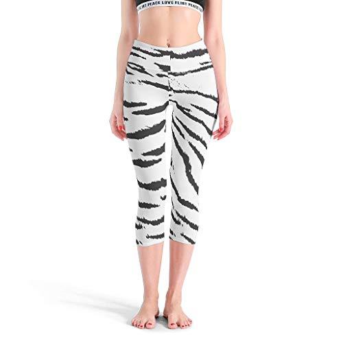 LAOAYI Pantalon de yoga pour femme avec taille haute Leopard Skin Legging doux pour la gym XXXL Blanc